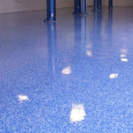 Blue Polished Concrete Flooring